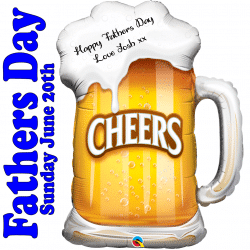 Personalised Beer Glass Foil Balloon
