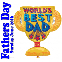 Worlds Best Dad Foil Cup Balloon From Cardiff Balloons