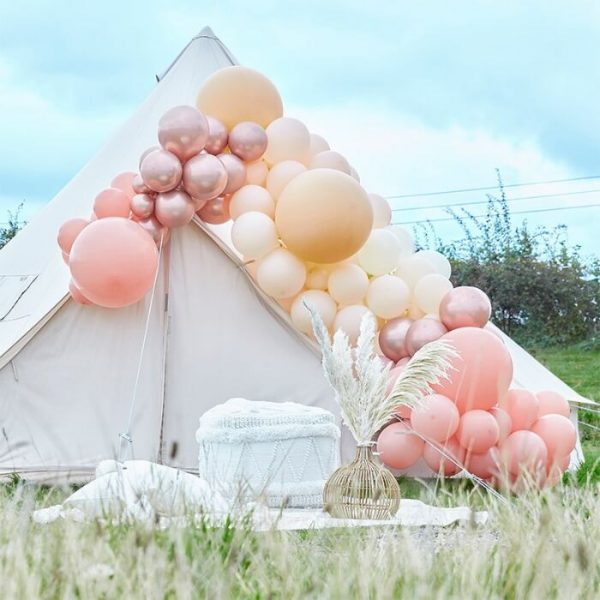 Peach Nude and Rose Gold Balloon Arch Kit
