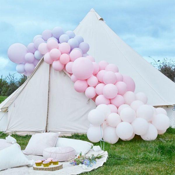 Large Pink and Purple DIY Organic Balloon Arch Kit