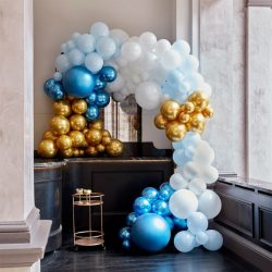 DIY Balloon Arch Kit In Blue And Gold