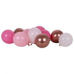 """5"""" Balloon Pack in Pinks and Rose Gold From Cardiff Balloons"""