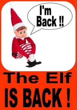 Elf Arrival Ideas