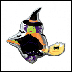 HAlloween Large Flying Witch Balloon