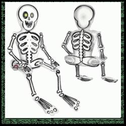 Halloween Sitting Skeleton Balloon