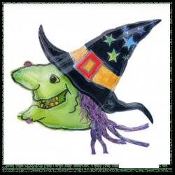 Halloween Witches Head Balloon