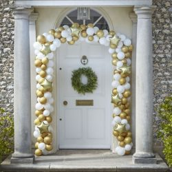 Gold and White Christmas Arch Kit