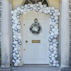 Christmas Snowflake Themed Balloon Arch