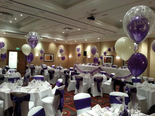 Double Bubble Balloons at Marriott cardiff