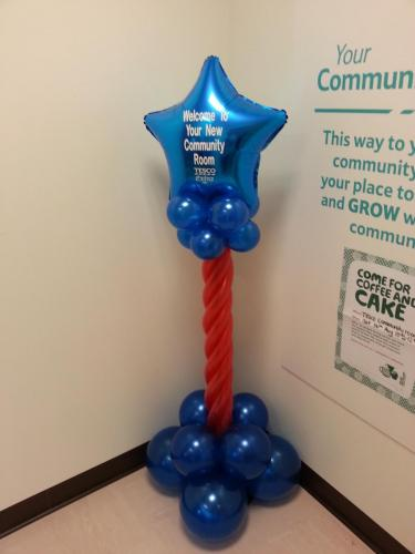 Twisted pillars for Tesco and the opening of their community room
