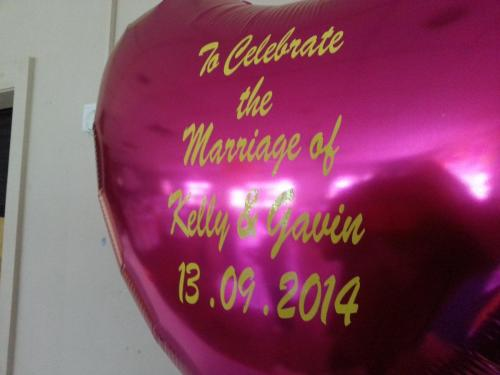 Large Personalised Foil Heart. www.cardiffballoons.co.uk