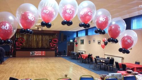 Double Bubble Arch For a 40th Birthday at Ely Rafa Club By #cardiffballoons