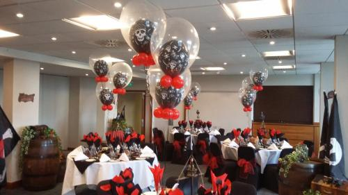 Double Bubble Bouquets, used for a Pirate Themed Wedding In Holiday Inn Cardiff