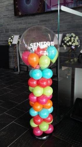 Celebrating 10 Years At The Senydd Cardiff Bay #corporateballoons