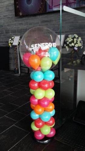 Celebrating 10 Years At The Senydd Cardiff Bay #corporateballoons