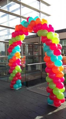 Multi Coloured Arch For The Senydd's 10th Birthday