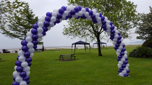 Fun Run in Black Pill Swansea. Areopole Outdoor Arch #corporateballoondecor