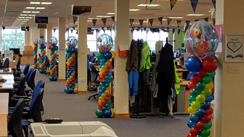 Corporate Balloon Decor For SSE at their Cardiff Offices