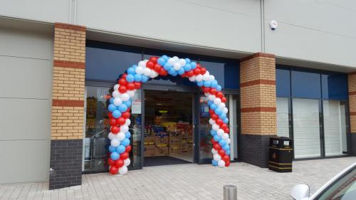 3 Colour Spiral Arch at Home Bargains