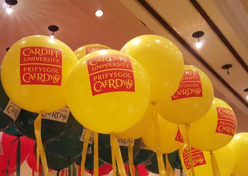 Cardiff Half Marathon Balloons Sponsored By Cardiff University
