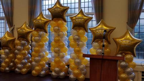 Set Of Graduating Pillars