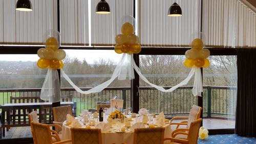 Set of clouds in elegant Gold and Ivory at Cardiff  Golf Club