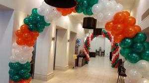 Corporate Balloon Arches For Jurys Inn Cardiff