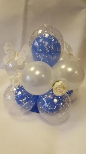Butterfly & Rose Centre piece. #CardiffBalloons #weddingballoons
