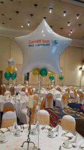 Some simple table arrangements for Cardiff Bus #corporateballoons