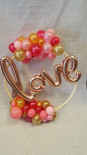 Love Circle Cardiff Balloons Wedding Balloons