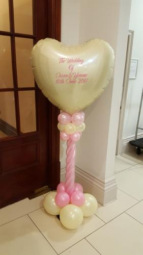 Large Personalised Heart On A Twisted Pedestal