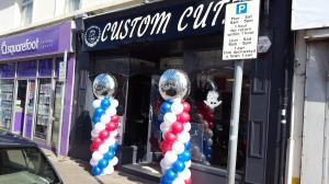 Large Pillars With Personalised Toppers For Custom Cutz