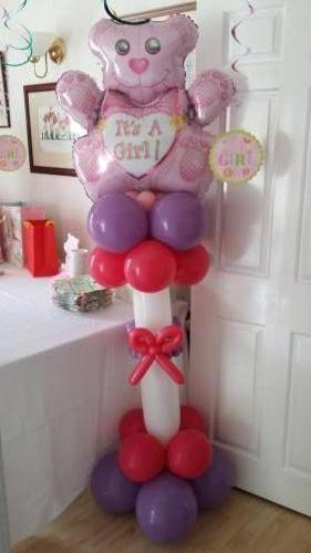 Its A Girl Balloon Pillar. Available In Many Varieties From Cardiff Balloons
