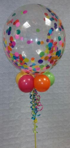 Multi Coloured Confetti Bubble #cardiffballoons