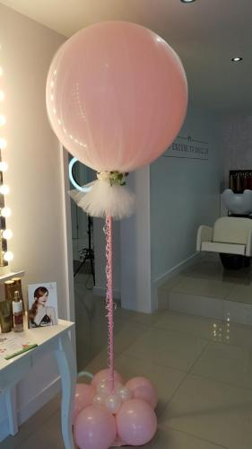 Giant balloon covered in tulle