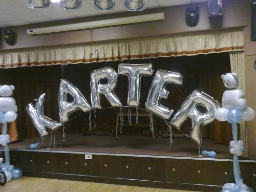 Giant Letters Spelling a Name. Always a Great Christening Display