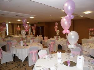 Deluxe Table Decorations in Pastel Pink Wedding Balloons By Cardiff Balloons