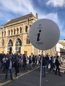 Large Printed Balloons For UEFA Cup Final